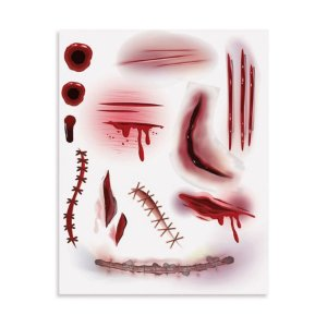 Cartela Tatoo para Pele Noite do Terror Halloween 1 Unidades - Cromus - Rizzo