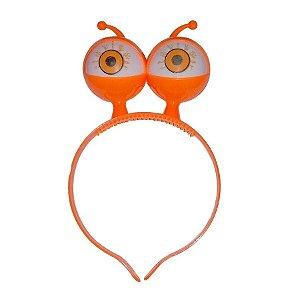 Tiara Halloween laranja - Olhos com Luz - 01 unidade - Rizzo