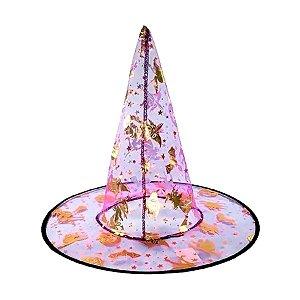 Chapéu de Bruxa Transparente Roxo - Mix Halloween - 01 unidade - Rizzo