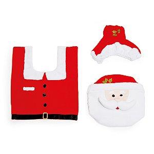 Kit para Banheiro de Noel com 3 peças - Cromus Natal - Rizzo