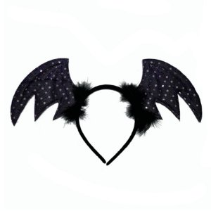 Tiara Halloween - Asas de Morcego - Preto - 01 unidade - Rizzo