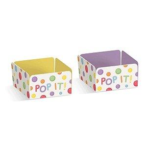 Forminha para Doces Festa Fidget Toys - Lilás e Amarelo - 24 unidades - Cromus - Rizzo