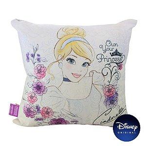 Almofada Cinderela Disney Princesas 40cm - Disney Original - 1 Un - Rizzo