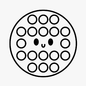 Transfer Para Balão Silhueta - Pop It Fidget Toy! - 01 Unidade - Rizzo