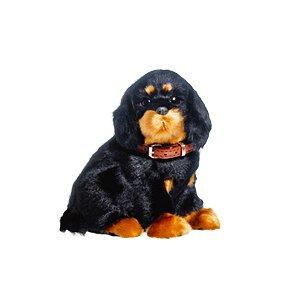 Enfeite Decorativo Pelúcia Cachorro Rottweiler - Preto - 01 unidade - Cromus - Rizzo