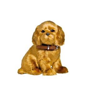 Enfeite Decorativo Pelúcia Cachorro Labrador - Bege - 01 unidade - Cromus - Rizzo