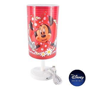Luminária Abajur Mesa Minnie Mouse - Lâmpada Bivolt - Disney Original - 1 Un - Rizzo
