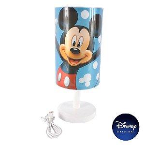 Luminária Abajur Mesa Mickey Mouse Disney Jr - Lâmpada Bivolt - Disney Original - 1 Un - Rizzo