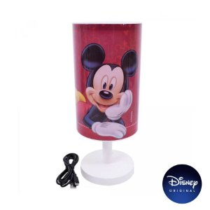 Luminária Abajur Mesa Mickey Mouse - Lâmpada Bivolt - Disney Original - 1 Un - Rizzo