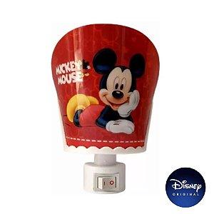 Luminária Abajur Parede Mickey Mouse - Lâmpada Bivolt - Disney Original - 1 Un - Rizzo