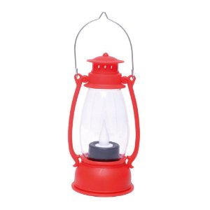 Lamparina Decorativa Vermelha com Led - 01 unidade - Cromus Natal - Rizzo