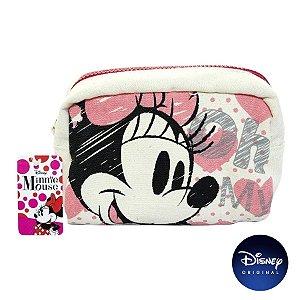 Necessaire Tecido Minnie Mouse - Disney Original - 01 Un - Rizzo