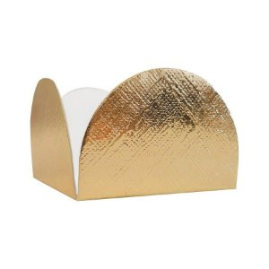 Forminha para Doces 4 Pétalas (4cm x 4cm x 3cm) - Dourado Texturizado  50 uni- Assk - Rizzo