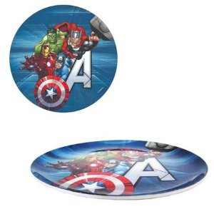 Prato Sem Borda Vingadores Avengers - 20,5cm - Marvel Original - 1 Un - Rizzo