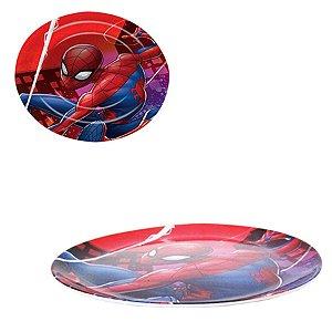 Prato Sem Borda Homem Aranha - 22,5cm - Marvel Original - 1 Un - Rizzo