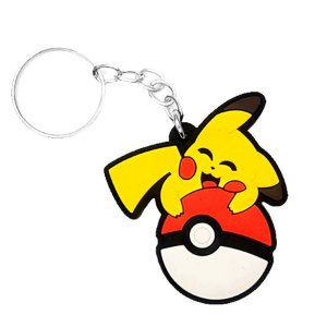 Chaveiro Pikachu Temático Emborrachado - 01 unidade - Rizzo