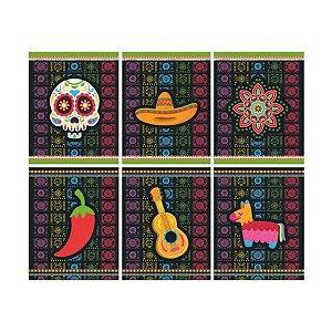 Quadrinhos Divertidos Festa Mexicana Dia Dos Mortos - 06 Unidade - Junco - Rizzo