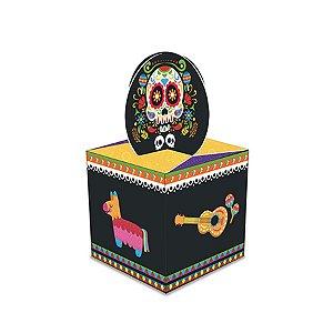 Caixa Lembrancinha Festa Mexicana Dia Dos Mortos - 8 Unidade - Junco - Rizzo