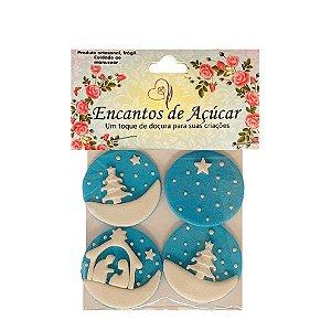 """Confeitos Comestíveis """"Noite de Natal"""" - 01 Unidade - Rizzo"""