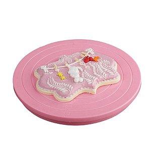 Bailarina para Biscoito Rosa Prime Chef 01 Unidade Rizzo Confeitaria