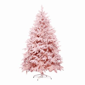 Árvore de Natal Andes Nevada Rosa 210cm - 1un - Cromus Natal - Rizzo
