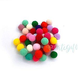 Pompom Decorativo Colorido - 100 Un - Artegift - Rizzo