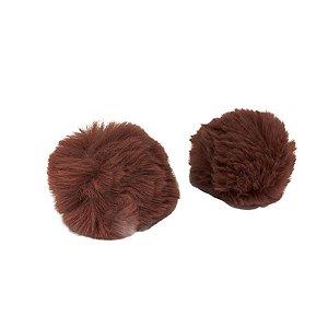 Pompom Pelo Decorativo Marrom - Nº7 - 2 Un - Artegift - Rizzo