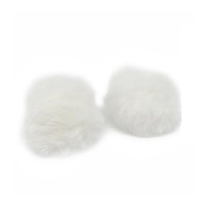 Pompom Pelo Decorativo Off White - Nº7 - 2 Un - Artegift - Rizzo