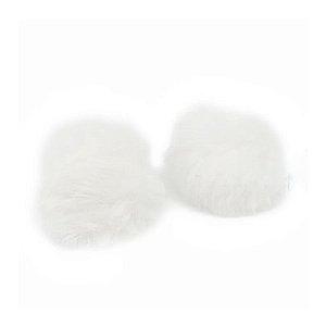 Pompom Pelo Decorativo Branco - Nº7 - 2 Un - Artegift - Rizzo