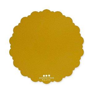 Cake Board Dalia MDF Dourado  - 01 unidade - Sonho Fino - Rizzo