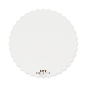 Cake Board Margarida MDF Branco  - 01 unidade - Sonho Fino - Rizzo