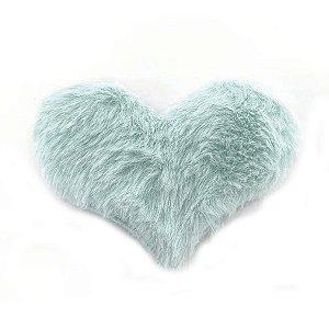 Aplique Coração Pelo Azul Acinzentado Decorativo BIG - 2 Un - Artegift - Rizzo