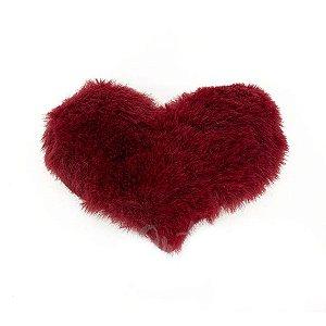Aplique Coração Pelo Marsala Decorativo BIG - 2 Un - Artegift - Rizzo