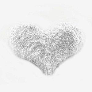Aplique Coração Pelo Branco Decorativo BIG - 2 Un - Artegift - Rizzo