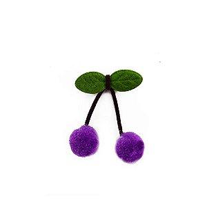 Pompom Cereja Lilás Decorativo - 5 Un - Artegift - Rizzo