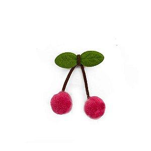 Pompom Cereja Pink Decorativo - 5 Un - Artegift - Rizzo