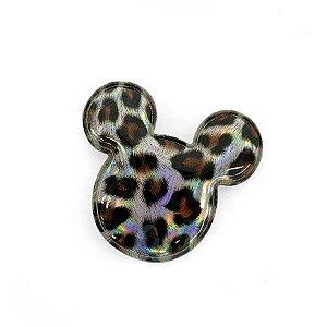 Aplique Urso Prata Animal Print Decorativo - 2 Un - Artegift - Rizzo