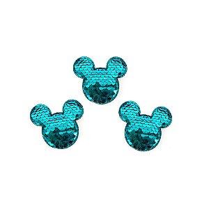 Aplique Mini Urso Paetê Azul - 3,5cm - 5 Un - Artegift - Rizzo