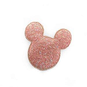 Aplique Urso Glitter Rosa Claro - 6,5cm - 2 Un - Artegift - Rizzo
