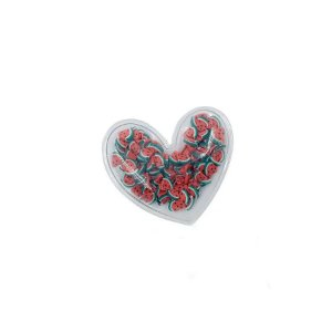 Aplique Coração Incolor Frutas - 5cm - 2 Un - Artegift - Rizzo