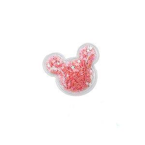 Aplique Urso Incolor Pink - 5cm - 2 Un - Artegift - Rizzo