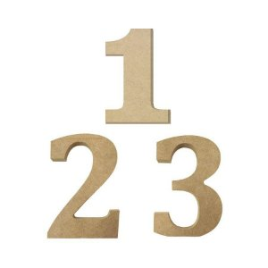 Numero MDF Cru com 12cm de Altura - Rizzo Embalagens