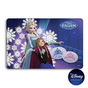 Jogo Americano Azul Frozen 2 Elsa e Anna - 42x30cm - Disney Original - 1 Un - Rizzo