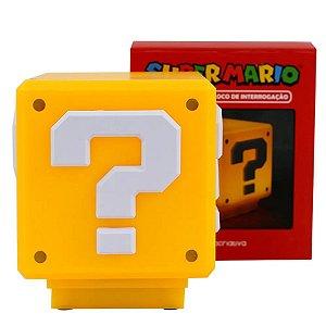 Luminária Mesa Abajur Cubo Super Mario - Nintendo Original - 1 Un - Rizzo