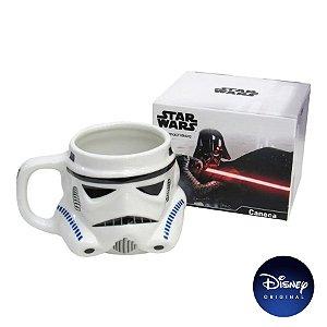 Caneca Formato Stormtrooper Star Wars - 500ml - Disney Original - 1 Un - Rizzo