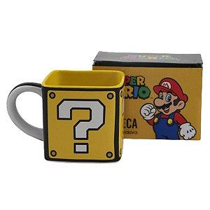 Caneca Quadrada Mario Cubo - 300ml - Nintendo Original - 1 Un - Rizzo