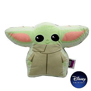 Almofada Formato Baby Yoda Star Wars - 30cm - Disney Original - Zona Criativa - 1 Un - Rizzo