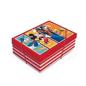 Caixa para Presente com Tampa  - Mickey e Turma - 01 unidade - Cromus - Rizzo