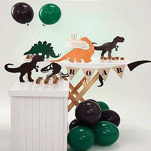 Kit Festa Fácil Festa Mundo dos Dinossauros Pequena - 44pçs - 01 Unidade - Cromus - Rizzo