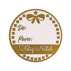 Etiqueta Adesiva - De Para - Feliz Natal - 60 un. Rizzo